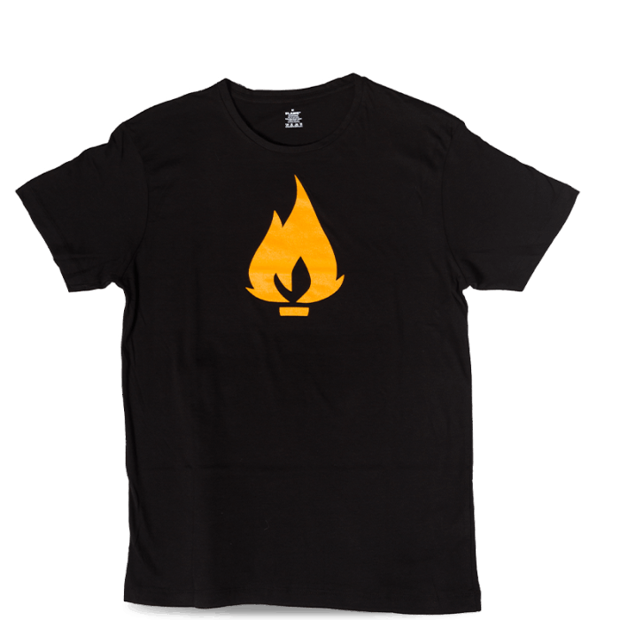 Flame T-Shirt | black | grey Take12 Graffity Schöneiche Berlin